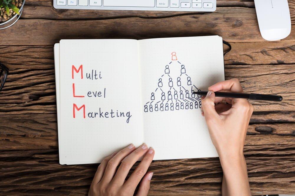 Pessoa estudando sobre network marketing